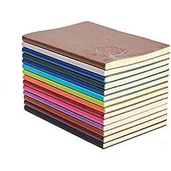 XYTMY Negocios Ubierta de Cuero de la PU Libreta A5 Tapa Blanda,1xPaquete de 4 unidades[surtido de colores]