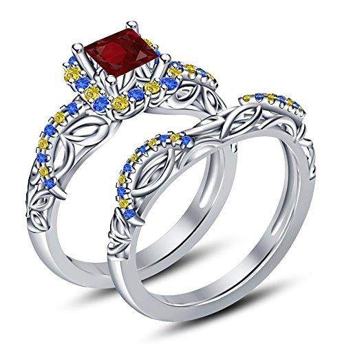 Vorra Fashion Damen -  925 Sterling-Silber  Sterling-Silber 925     Verschiedene Edelsteine  (Snow White Princess Fashion Set)