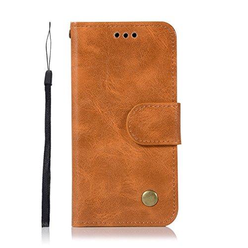 Chreey iPod Touch 5/Touch 6 Hülle, Premium Handyhülle Tasche Leder Flip Case Brieftasche Etui Schutzhülle Ledertasche, Goldgelb (Mädchen Ipod-taschen 4. Generation)