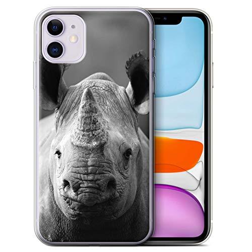 Hülle Für Apple iPhone 11 Zoo-Tiere Nashorn Design Transparent Dünn Flexibel Silikon Gel/TPU Schutz Handyhülle Case