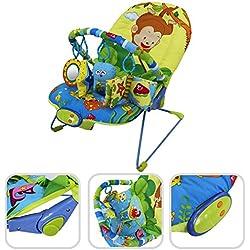 Hamaca para bebé vibratoria con función musical –Hamaca ajustable con 1 arco y juguetes educativos