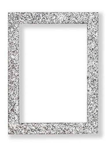 Memory Box Glitzer Range Bilderrahmen funkelndem Glitzer Effekt Bild/Foto/Poster Rahmen mit Kunststoff Glas-glitterng-px-rl-glsparent, Silber, 7