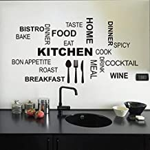 malloom cocina patrn de carta desmontable vinilo pegatinas de pared mural decal arte decoracin