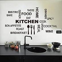 Malloom@ cocina patrón de Carta desmontable vinilo Pegatinas de pared Mural Decal Cotizaciones Arte Decoración Del Hogar