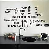 Malloom@ cocina patrón de Carta desmontable vinilo Pegatinas de pared Mural Decal Cotizaciones Arte...
