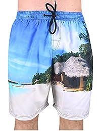 Big Mens Brooklyn Beach Scenes Swim Shorts 2XL 3XL 4XL 5XL 6XL