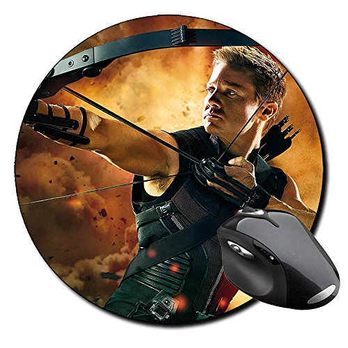 los-vengadores-the-avengers-hawkeye-jeremy-renner-a-round-mousepad-pc