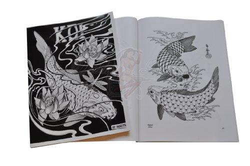 japonais Koi Carp Poisson Tatouage Flash Motif art livre par Horimouja