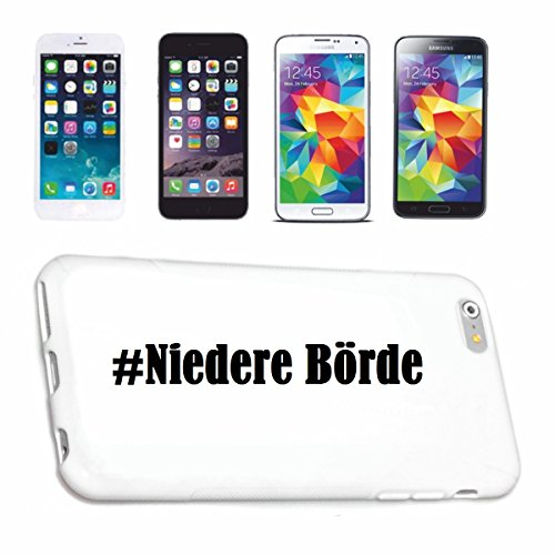 Reifen-Markt Handyhülle kompatibel mit Samsung S6 Galaxy Hashtag #Niedere Börde im Social Network Design Hardcase Schutzhülle Handy Cover Smart Cover