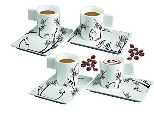 Deagourmet 154 Origini Stesura y para recaudar juego de 4 tazas de 4 platos de café