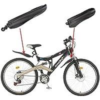 Homiki - 1par de guardabarros para bicicleta de montaña/bicicleta de carretera, para neumático delantero/trasero, ajuste sencillo, con herramientas