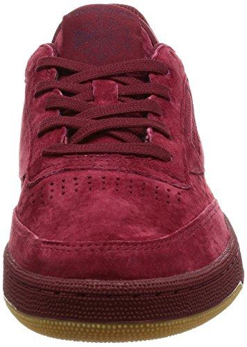 Reebok Club C 85 Tg, Sneakers Basses Homme Rouge (Cllgt Burgundy Dark Red/gum)
