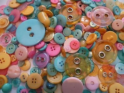 ASVP Shop® Mixed Assorted 50g Buttons, Mixed Colours Shapes Sizes Art Craft Sewing Scrapbook Card Making