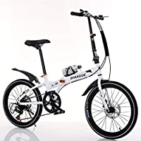 20 Pulgadas Plegables Bicicleta Viajero Hembra Estudiante Adulto Velocidad Variable Mini Ocio Estudiante Coche