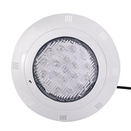 RGB 24W 12V AC Lampe de Piscine Lumière LED Multicolore Projecteur Piscine Led Submersibles avec Télécommande, Etanche IP68 Éclairage Sous-marin Murale