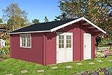 Gartenhaus PEDRO F 70 Blockhaus 505x505cm 70mm Blockhaus Holzhaus