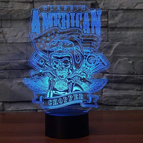 Motorrad Mann 3D Tischlampe Sensor Nachtlicht Für Kind Schlafzimmer Dekoration Bunte Atmosphäre Lichter & Amp;Urlaub (Motorrad Amp)