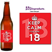 Keep Calm Red you are 18 Happy 18th