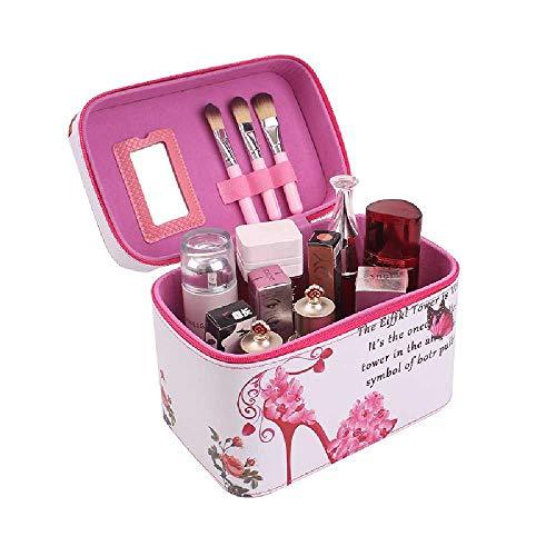 La Corea del Sud, La funzione di Bella di come la scatola portatile di cosmetici trousse impermeabile Borsa di Viaggio di cosmetici cassetta degli attrezzi. In Rosso le scarpe con i tacchi Alti, Tuba