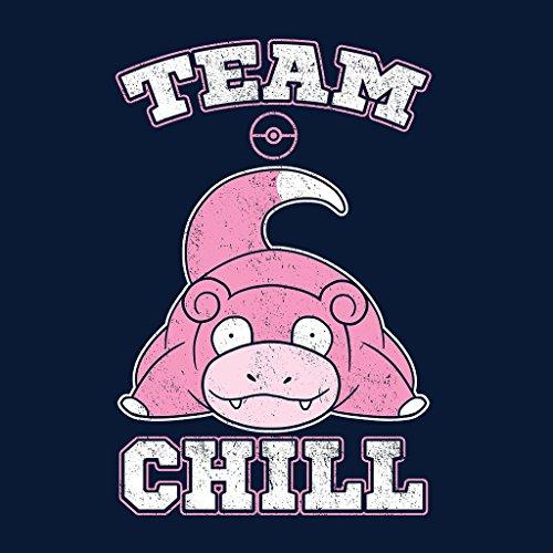 Pokemon Slowpoke Team Chill Women's Hooded Sweatshirt Navy blue