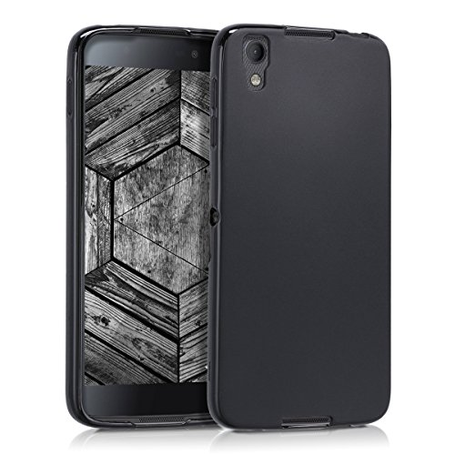 kwmobile Funda para Blackberry DTEK50 - Carcasa para móvil en [TPU Silicona] - Protector [Trasero] en [Negro Mate]