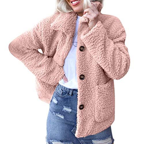 TianWlio Damen Mäntel Frauen Winter FrauenBaggy Warme Häkeln Winter Wolle Stricken Slouchy Caps Hut Rosa L