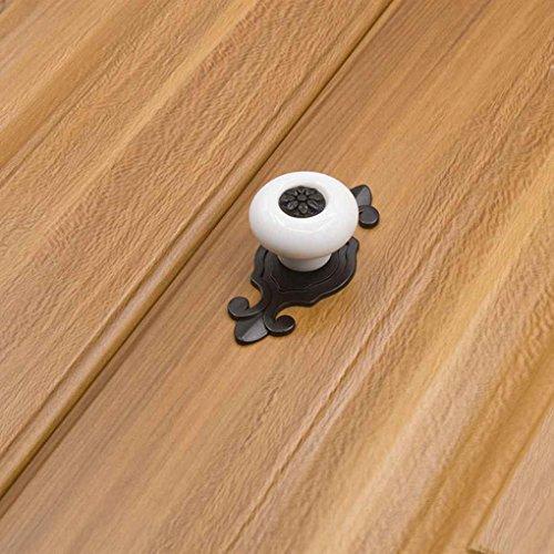 Providethebest Einzelnes Loch Bunte Keramik runden Griffen ziehen Knöpfe für Cabinet Schrankgarderobenfach-Schranktür 1901 matt black & white (Cabinet Weiß Ziehen)