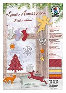 Ursus 15130099-Laser Accesorios Navidad, 66Piezas