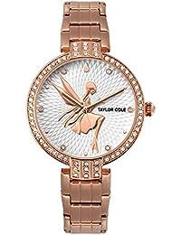 Taylor Cole TC090 - Reloj Señora Hada Cuarzo de Acero Inoxidable Oro Rosa