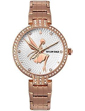Taylor Cole Damen Armbanduhr Fee Fashion Design Roséfarben Damenuhr TC090