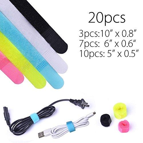 Avantree othr-velc-01Stoff mehrfarbig 20pièce (S) Kabelbinder–Satellitenempfängers (Mehrfarbig, 20Stück (S)) (Tv Kopfhörer Samsung Für Smart)