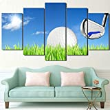 Die besten Golfplätze Poster - RALCAN Hd Gedruckt 5 Stück Leinwand Kunst Golfplatz Bewertungen