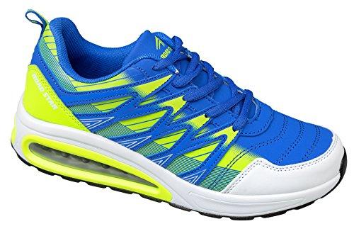 Sportschuhe blau Gr 36 Leicht gibra Neongrün Bequem 41 neongrün Blau und 7dxzWn