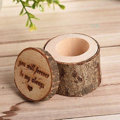 Yimosecoxiang Aufbewahrungsbox für Schmuck, rustikal, für Hochzeiten, Ringe 1#