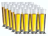 Bierglas Gläser-Set Serie Linea 6 teilig | Füllmenge 390 ml | Altbiertulpe ideal für Pilsener Biergläser | Perfekter Biergenuss mit Freunden - 2