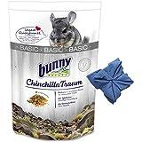 3,2 kg Bunny Chinchilla Traum Basic Nager Futter für Chinchillas+ Microfasertuch