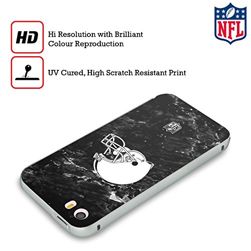 Ufficiale NFL Pattern 2017/18 Cleveland Browns Argento Cover Contorno con Bumper in Alluminio per Apple iPhone 6 Plus / 6s Plus Marmo