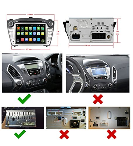 Foto de 2 Din 7 pulgadas Coche Estéreo con GPS Navegación Android 5.1.1 Lollipop OS para Hyundai IX35/Tucson 2009 2010 2011 2012 2013 2014,Pantalla Táctil Capacitiva con 1.6G de la Cortex A9 Quad Core CPU 16G y 1G DDR3 RAM Flash 1024x600 Radio DVD 3G/WIFI OBD2 Au