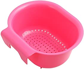 Styleys Sink Hanging Fruit Vegetable Drainer Basket (Pink)
