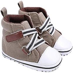 Culater® Neonato Presepe Morbide Sneakers Suola Della Ragazza Del Neonato (6 ~ 12 mesi, Cachi)