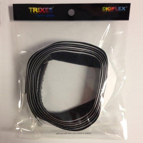 TRIXES Klettband selbstklebend in Schwarz mit 1 Meter Länge und 20 mm Breite