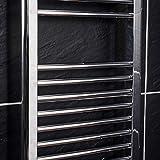 WarmeHaus Elektrischer Handtuchheizkörper, Elektro Badheizkörper 700x400 Chrom Test