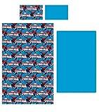 completo letto singolo SPIDERMAN marvel lenzuola sopra sotto e federa 100% cotone art. 95791 col. turchese