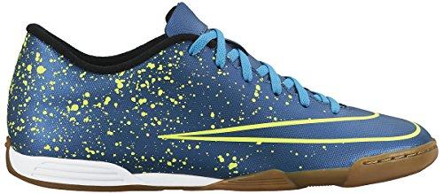 Nike Mercurial Vortex II Ic, Scarpe sportive, Uomo Multicolore (Azul / Negro / Verde (Squadron Blue / Sqdrn Bl-Blk-Vlt))
