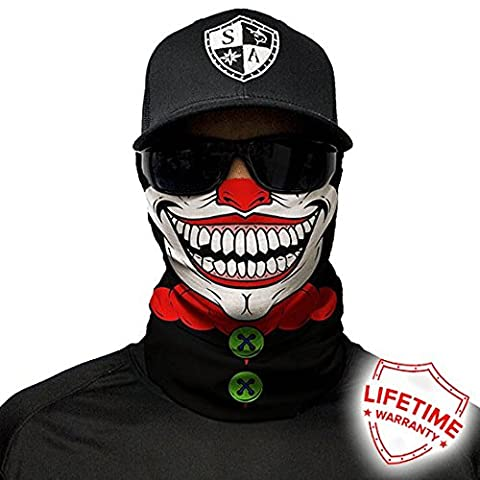 SA Company Face Shield Cagoule * * Designs Différents * * Multi unkti Ons écharpe Masque Fishing Tête de Mort Skull Bandana Bandana Masque de ski moto paintball, Clown