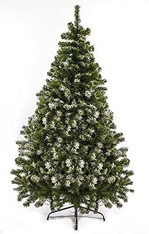 Künstlicher Weihnachtsbaum mit SCHNEE-Effekt Christbaum künstlich 120 - 210 cm Tannenbaum Kunstbaum Tanne mit (Schnee 150 cm)