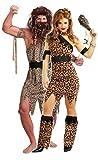 Couples FEMMES ET HOMMES fille des cavernes homme des cavernes préhistorique homme de Néandertal velours imprimé léopard TARZAN JUNGLE BABIES déguisement costume déguisement