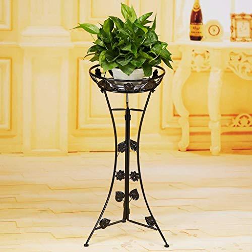 Ferro da stiro in ferro battuto in stile soggiorno balcone fioriere da scrivania in stile europeo mensola multifunzione per fiori (colore: marrone, misura: 76cm) ( colore : nero , dimensione : 76cm )