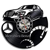 upnanren Schallplatte Wanduhr Mercedes Benz Logo Vinylmaterial