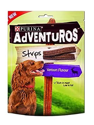 Adventuros Strips Dog Treat Venison Flavour 90g